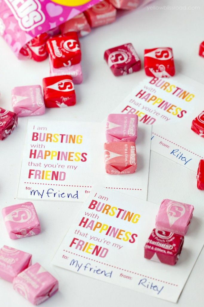 Printable Starburst Valentine Cards