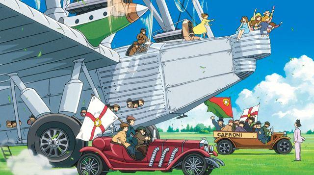 """""""Le vent se lève"""", Hayao Miyazaki, 2014. Histoire : Jirô est un ingénieur aéronautique dont le film suit les années de jeunesse. Durant la 2nde Guerre mondiale, il s'est rendu célèbre au Japon avec la création de l'avion de chasse « Mitsubishi A6M », devenu le symbole de la lutte aérienne du pays. Fresque historique et magnifique histoire d'amour, Le vent se lève a été présenté en première mondiale au dernier festival de Venise où Miyazaki a annoncé qu'il s'agirait de son ultime long…"""