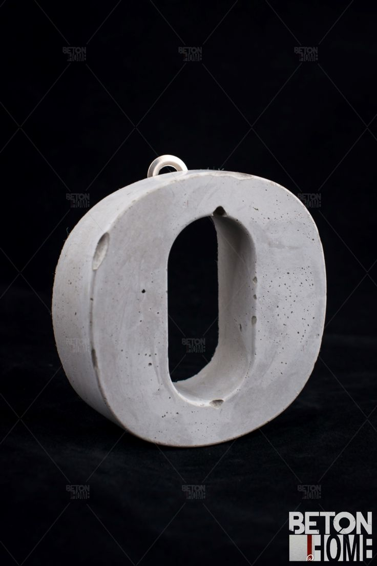 Concrete house number Beton Hausnummer Concrete home accessories