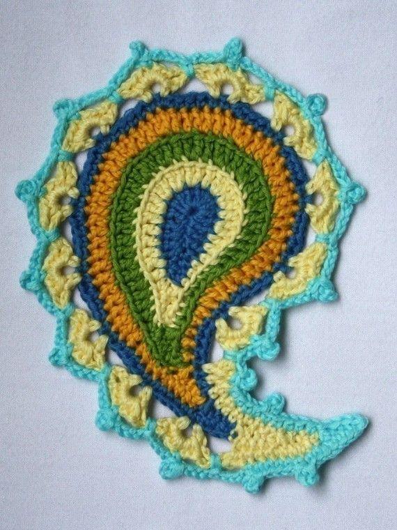 Paisley floral crochet pattern von CAROcreated auf Etsy