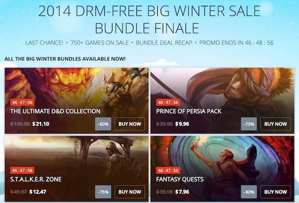 Weekend deals include GOG bundles, Shadow of Mordor, Wii U bundles, 3DS XLs -     by Thomas Schulenberg  (11 minutes ago)     Should you be looking for a few good gaming deals, this weekend holds plenty of promise. For starters, Good Old Games is finishing off its Big Winter Sale with an encore offering of every daily bundle that was featured in the two-week sale. Deals...
