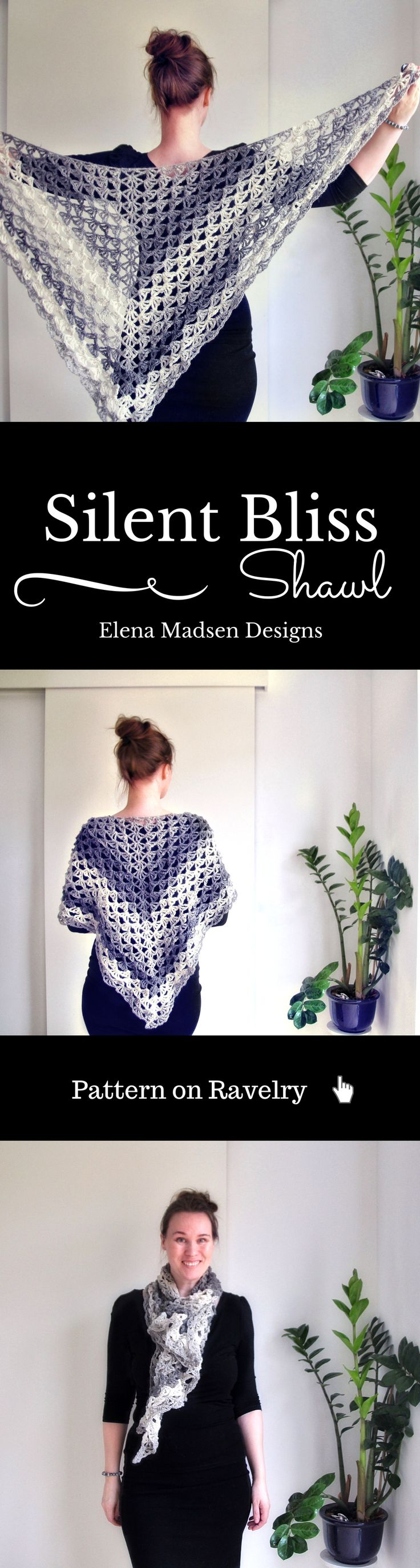 1000 images about crochet thread mini amp micro on pinterest - Large And Lacy Crochet Shawl Pattern Easy To Make Fully Written And With Charts