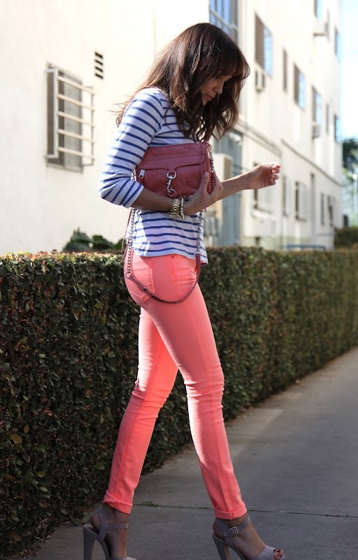 Coloured jeans are my thing! Love.