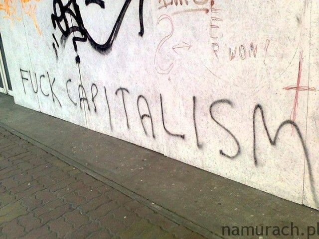 Kapitalizm - graffiti Wrocław #kapitalizm #graffiti #Wrocław