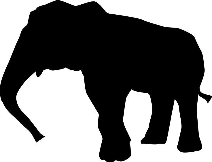 Dyr, Sort Og Hvid Elefant Kunst, Thai Elephant