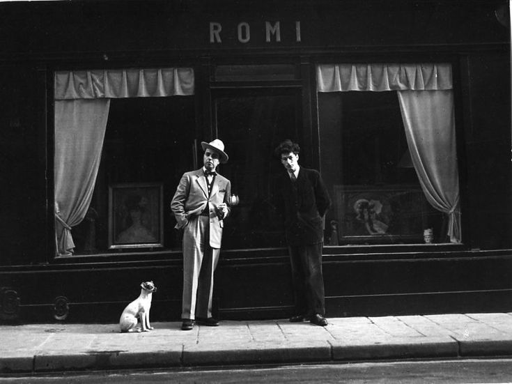 Doisneau.  Galerie Romi, rue de Seine, Paris 6e – 1948