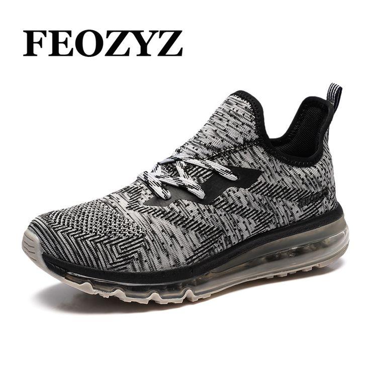 FEOZYZ New 2017 Mens Running Shoes Breathable Full Air Sole Running Sneakers Erkek Spor Ayakkabi Zapatillas Deporte Hombre #Affiliate