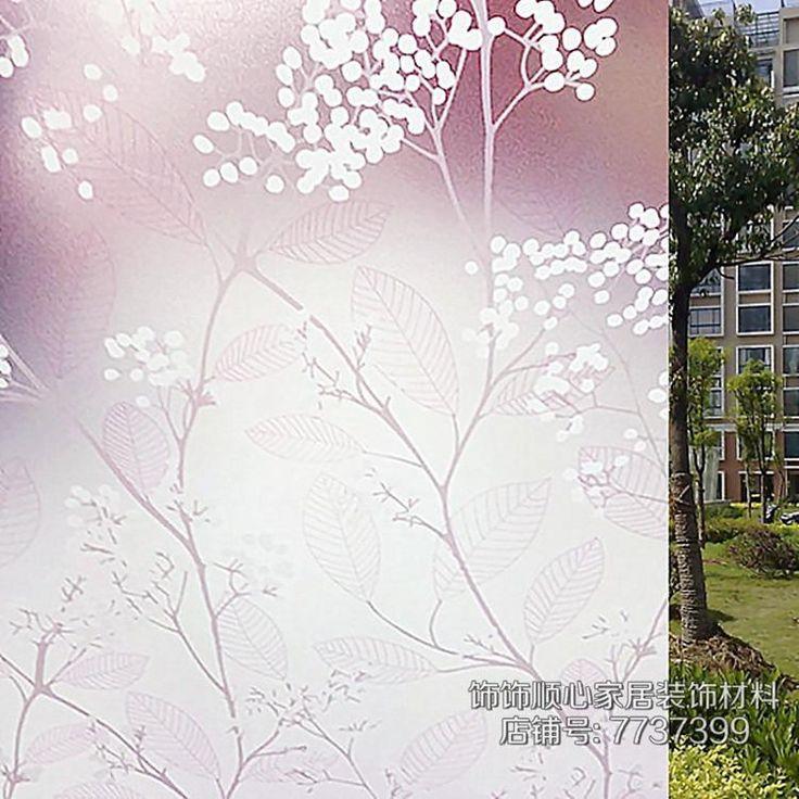 80x100 см Фиолетовый цветочные наклейки оконные стекла фильм полупрозрачные непрозрачные ванная комната раздвижные двери матовое окно наклейки солнцезащитный крем купить на AliExpress