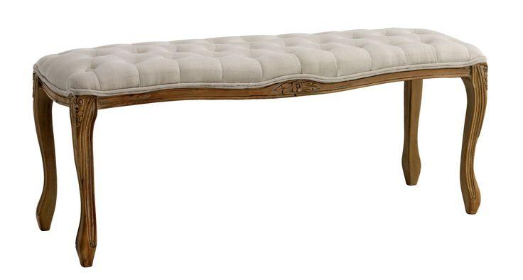 O bancă elegantă, în stil clasic,  din lemn masiv de mesteacăn lăcuit, cu șezut tapițat - banca HADERSLEV. | JYSK
