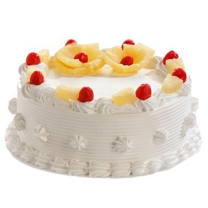 1 kg. (2 lb) fresh eggless Pineapple cake from reputed local city bakery - Send this exclusive gift to your loved ones through us