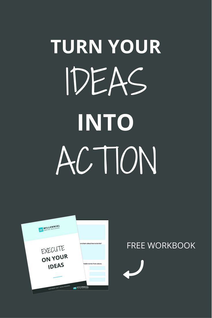 You know when you have a great idea but you just don't even know where to start because you're so overwhelmed? Click through to learn how to turn those goals into action and FINALLY start reaching your goals.