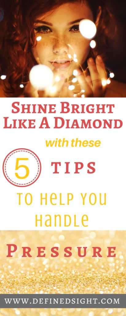 Beautiful Girl Shining Bright Like a Diamond Because She Follows These 5 Steps To Handle Pressure #PersonalDevelopment #ProfessionalDevelopment #Focus #Careers #Millennials #GenY #Pressure #Workforce #FinancialPlanning #Savings #Budget #HowToBeHappy #BeMoreChill #DefinedSight