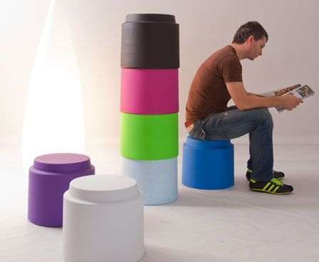 Modern Low Stools And Tables In Fruity Colors Tingle By Luxxbox
