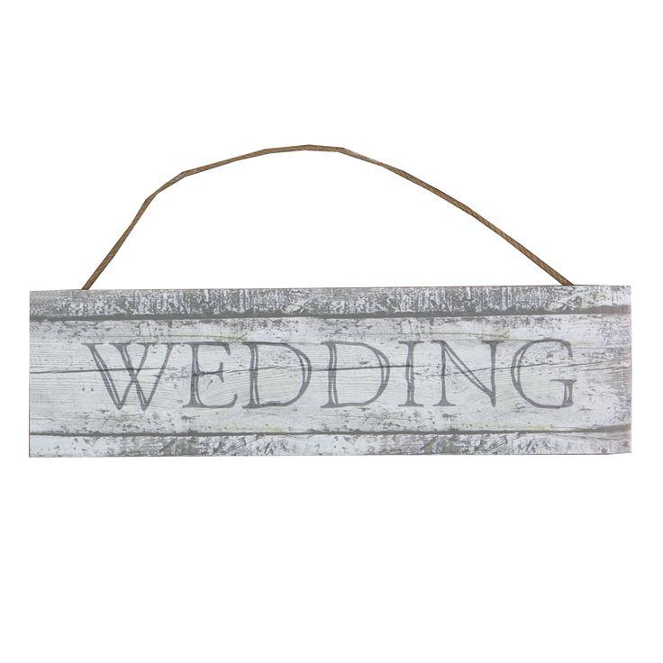 Bröllopsskylt -Wedding stor 79 SEK Vintage skylt i trä med texten Wedding Perfekta dekorationen till bröllopet