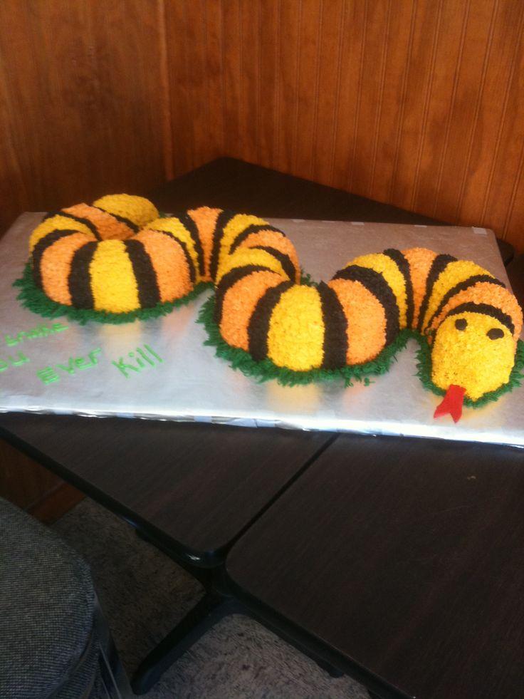 snake cake... W/ Marshmallow rattler