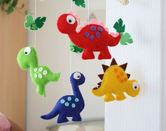 Nursery mobile  Baby mobile  Dinosaur Mobile  от FlossyTots, £44.99