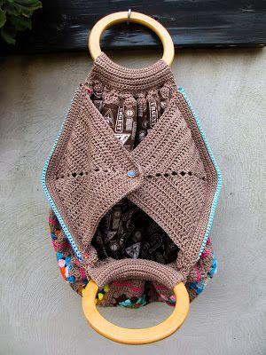 crochet bag detail