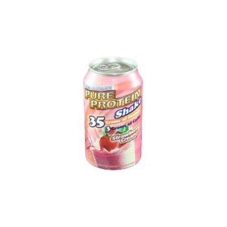 Pure Protein Shake, Strawberry Cream 11 Fl Oz, Brown
