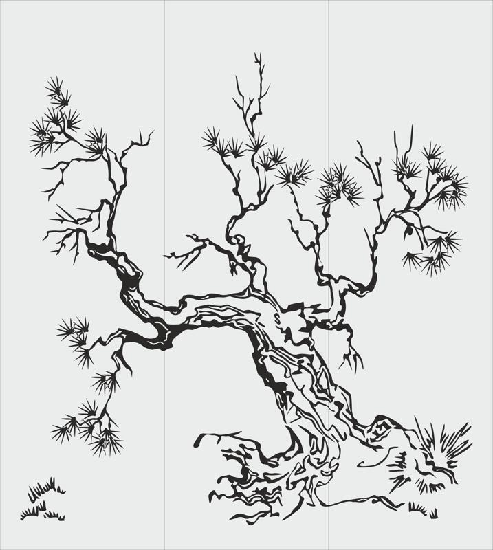 Tree Sandblasting Stencil Free Vector cdr Download   BORDADOS