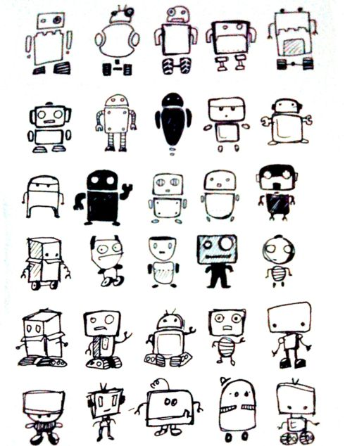 1000 ideas about robot sketch on pinterest design for Doodle characters