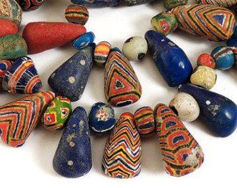 Kiffa pó grânulos de vidro Old mauritana africanos 44 polegadas 75.247