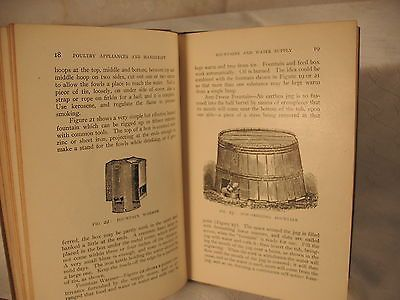 POULTRY APPLIANCES AND HANDICRAFT by GEORGE B FISKE antique old Orange Judd 1902