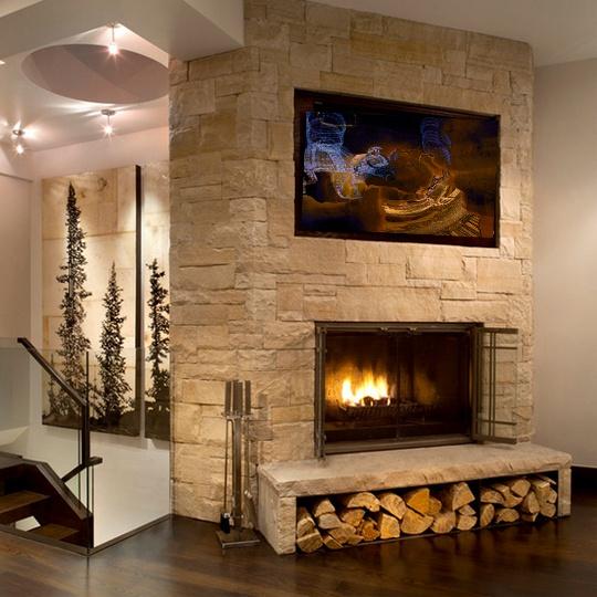 'Fent Via' artwork in a cozy living room | L'obra 'Fent Via' en una sala d'estar d'allò més acollidora http://www.sambeat-artigas.com/gallery-1_cpc_10_.html#ad-image-9