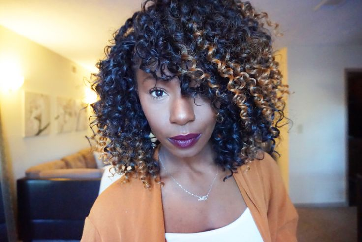 Crochet braids w/ freetress Gogo curls & Freetress Jamaican Bundle ...