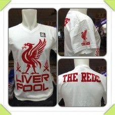 Vneck Liverpool Putih  Rp 50,000