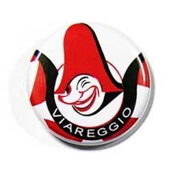 Viareggio's Carnival pin representing Burlamacco: the official Viareggio's Carnival mask first depicted in 1931 by Uberto Bonetti (Futurist painter and graphic artist)   - Burlamacco on Wikipedia http://it.wikipedia.org/wiki/Burlamacco