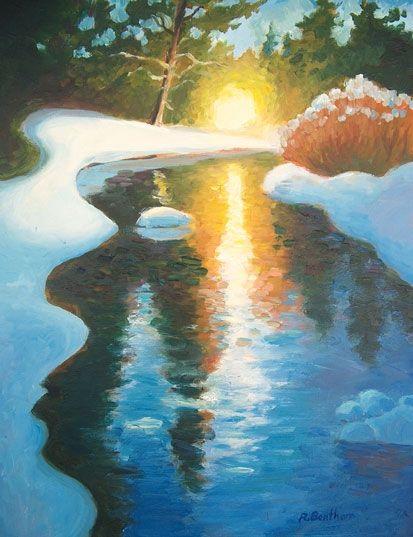 Winter Stream by Rick Bentham on ArtClick.ie Ireland Landscape Art