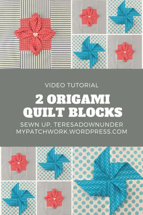 Video tutorial: 2 origami quilt blocks