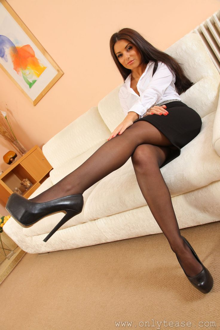 Adores pantyhose teasing in all