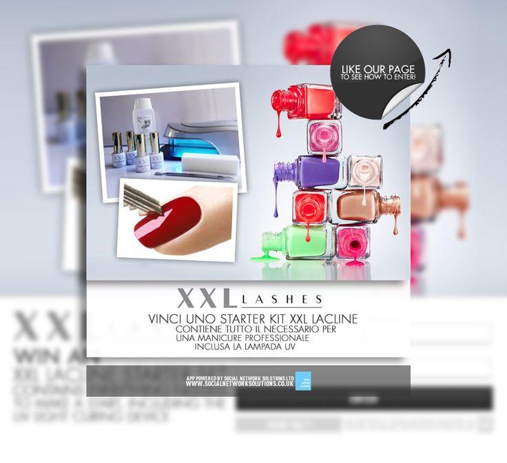 #Competition Time! Estensioni delle ciglia da XXL Lashes ti dà la possibilità di vincere uno Starter Kit XXL LacLine con tutto il necessario per la manicure...   Clicca qui per partecipare: http://apps.facebook.com/xxllashestwo