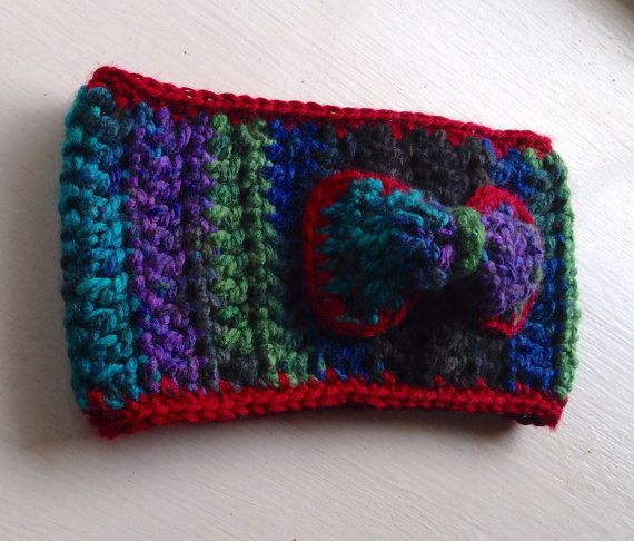 Girls Crochet Ear Warmer with Bow Detail on Etsy, $22.00