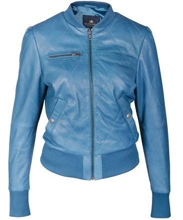 Blue leather jacket for women / Blauw leren jasje voor dames - Assisi | BLUEGOLD http://www.bluegold.nl/blauw-leren-jasje-dames-Assisi/