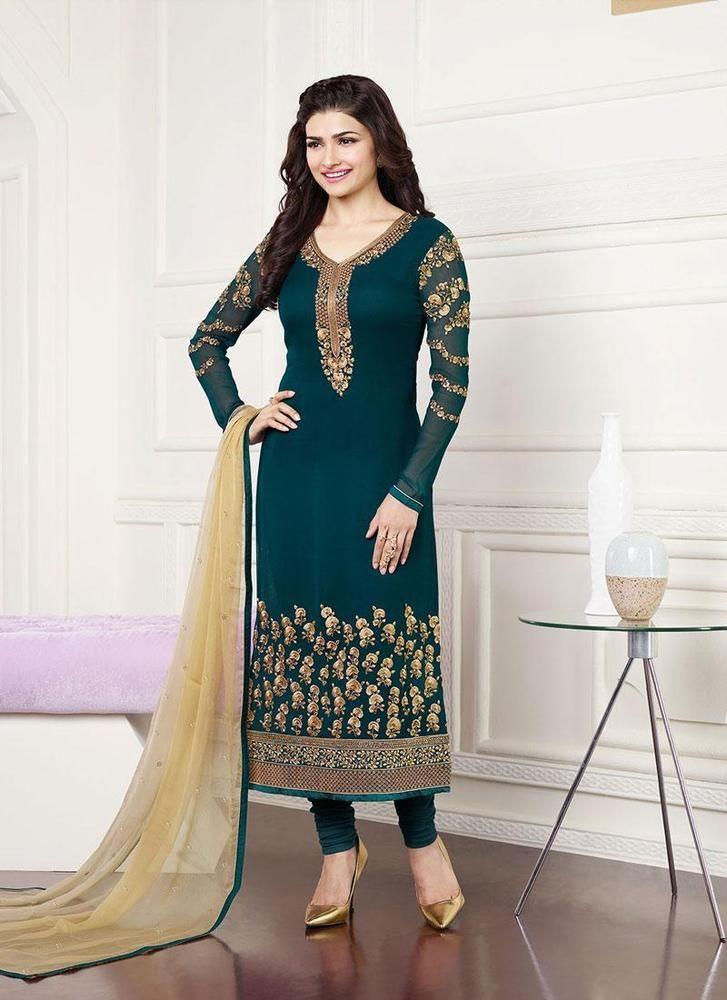 punjabi suit Indian Pakistani Bollywood Salwar Kameez churidar georgette dress #designer #SalwarKameez