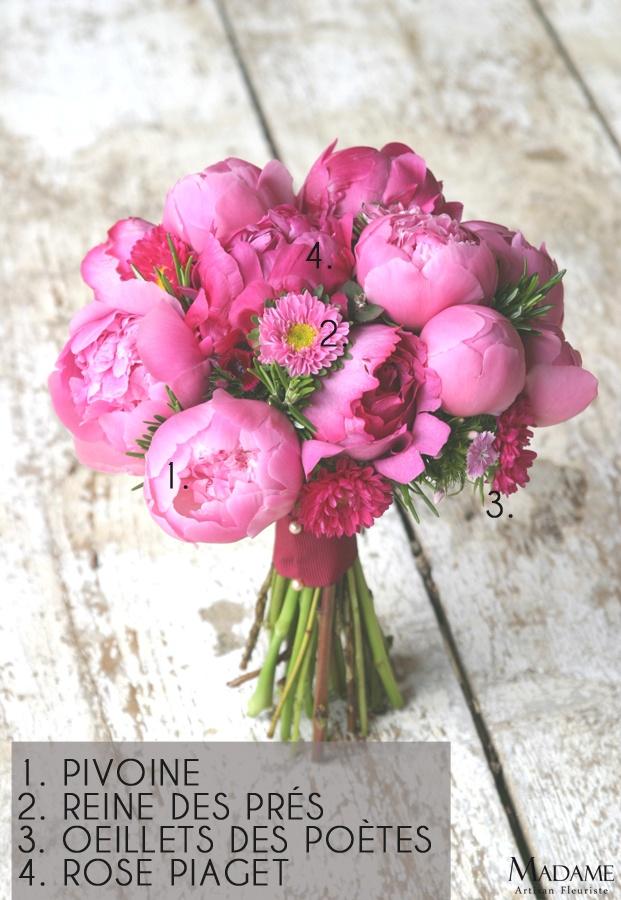 Bouquets de mariée décortiqués Bouquet de mariee rose fushia par Madame Artisan fleuriste - La mariee aux pieds nus – la mariee aux pieds nus