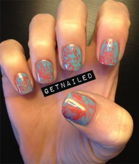 Saran Wrap Nails For A Perfect, Easy Miami Mani nail art