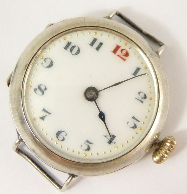 WW1 1917 Sterling Silver Trench Style Wrist Watch London Silver Import Marks - The Collectors Bag