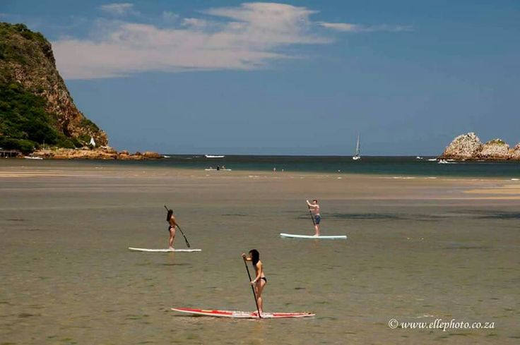 SUP Knysna lagoon with the Knysna Head's in the background  Photo Elle photography