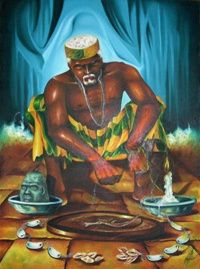 Orunmila, also known as Ifa, is the orisha of divination who, along with Eleggua, witnessed the birth of creation, and is thus the orisha who knows where our fates will lead us.