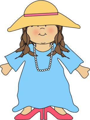 Girl Dressed Like Mom Clip Art - Girl Dressed Like Mom Image