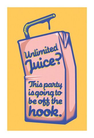 """Unlimited Juice"" by Benjie - arrested-development Fan Art (party invite?)"