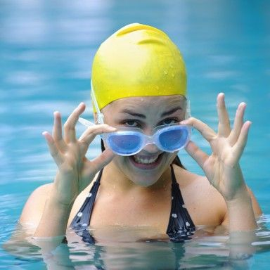 Swimming makes you feel weightless! A relief for tired backs and muscles. #healthymom, #glowonfitmom