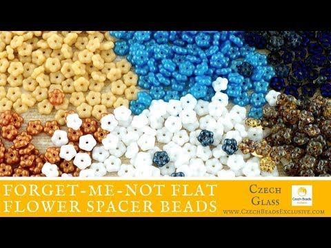 Video! FORGET-ME-NOT Flat Flower Spacer Czech Glass Beads - New Arrivals     #dawanda #dawanda_de #dawandashop #etsy #etsyshop #etsystore #etsyfinds #etsyseller #amazon #amazondeals #alittlemercerie #forgetmenot #forgetmenotflowers #flowers #flowerbeads #flowerdesign #flowerjewelry #spacer #spacerbeads #czechbeads #glassbeads #czechglassbeads #czechglassjewelry