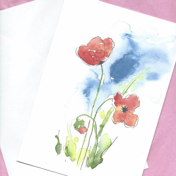 Watercolor Greeting Card Custom Greeting Card Personalized