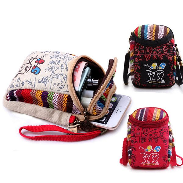 Retro Chinese National Style Double-deck Mini Shoulder Bag Handbag For Phone Under 6.0 Inch  Specification: Product Model: L28-4 Optional Color: Black red creamy-white Product Size: 17cm10cm9cm Material: Canvaspolyester cotton Product Weight: 100g Compatible with: phone under 6.0 inch Suitable occasion: go shopping travel school. Wearing type: handbag shoulder bag. Features: 1. Retro Chinese style with special pattern make it look different and interesting. 2. Can take it by hand or on…