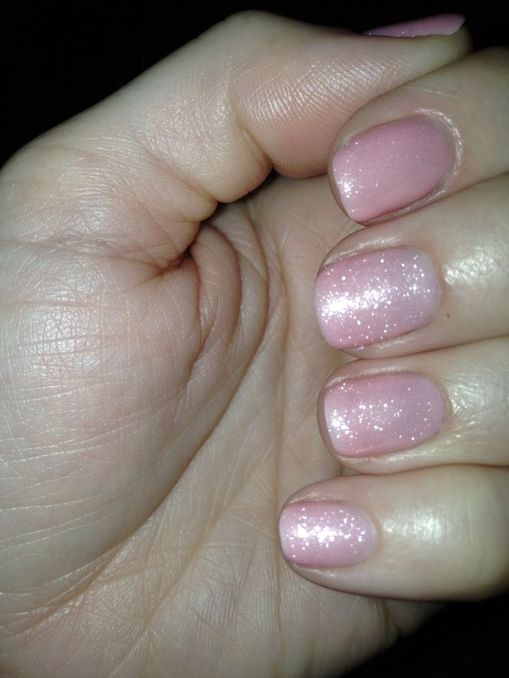 CND Shellac color 'Blush Teddy' (1 coat) layered with ...