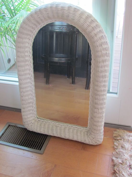 Wicker Mirror Makeover Makeovers Pinterest White